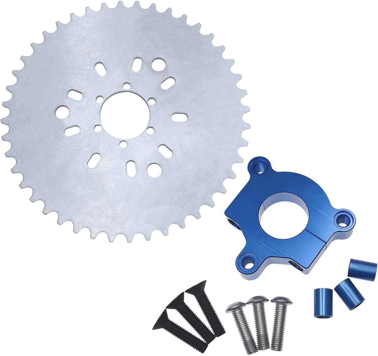"415 Chain Sprocket 1.5/"" 44T Green CNC Adapter Motorized Bicycle 50cc 60cc 80cc"