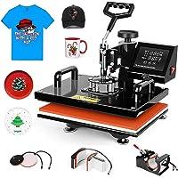 Pro 5 in 1 TUSY 12x15 Heat Press Machine Swing Away Heat Transfer Press Transfer Sublimation for T Shirt Hat Mug Cap…