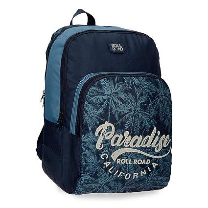 Roll Road Palm Mochila Escolar, 44 cm, 19.6 litros, Azul