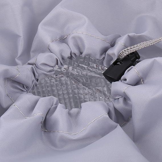 Amazon.com: eDealMax tela de Oxford del recorrido al aire Alimentos Picnic la bebida del calentador enfriador lleva el bolso de mano titular del color del ...