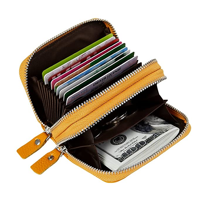 WOMEN'S CUTE AND SMALL ANTI THEFT LEATHER COMPACT WALLET (10 COLORS)