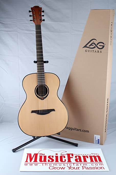 Lag - T80a auditorium guitarra acustica solid spruce: Amazon.es ...