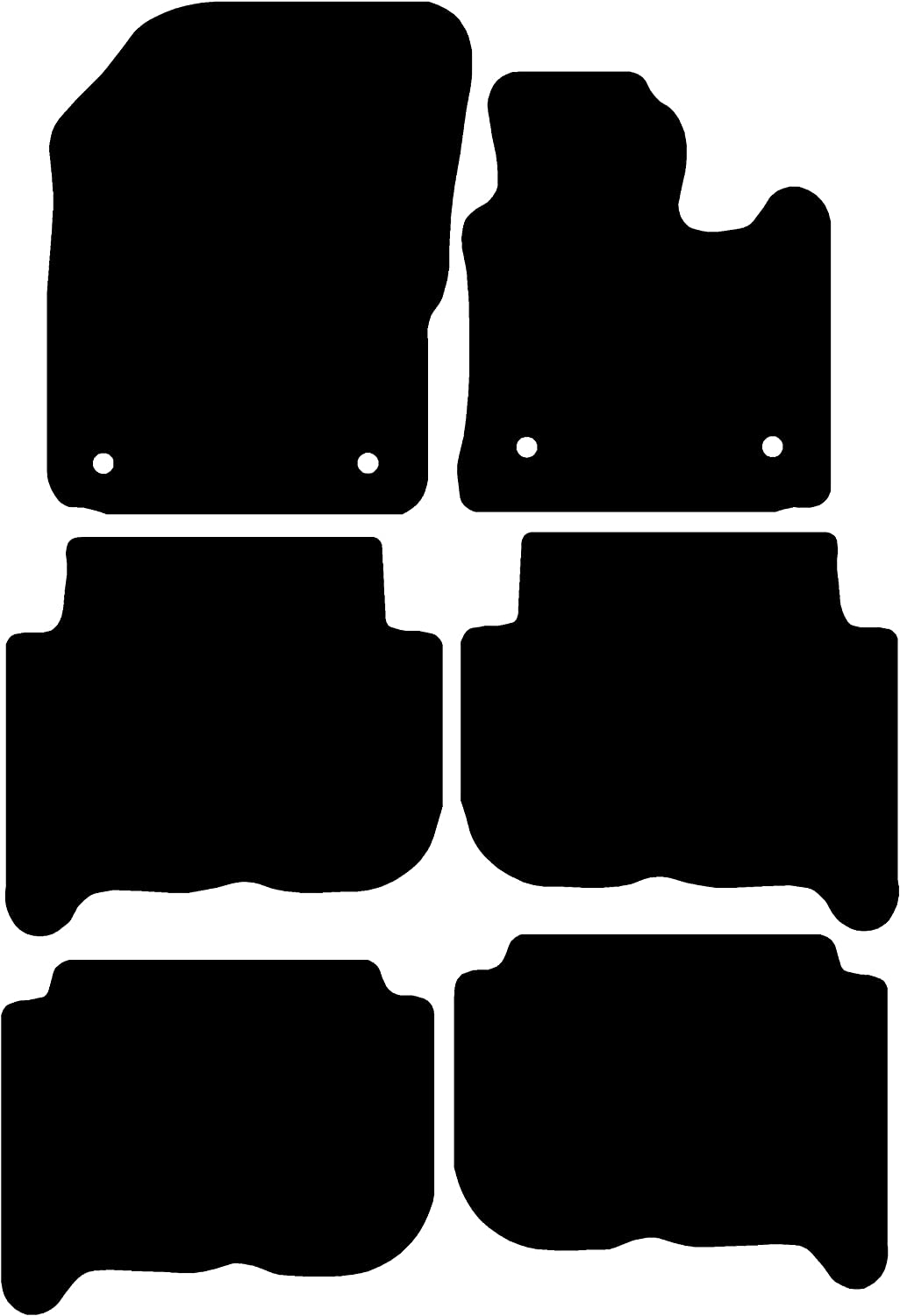 for Touran Black with Black Trim Connected Essentials 5006330 Tailored Heavy Duty Custom Fit Car Mats 2006-2010 Deluxe