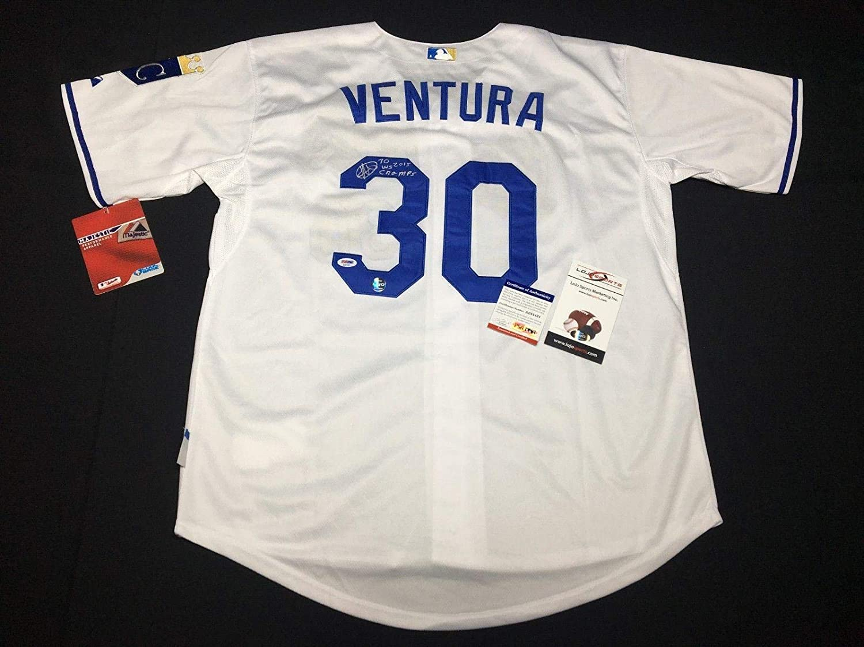 a5e9749efab Yordano Ventura Signed Authentic Kansas City Royals Jersey