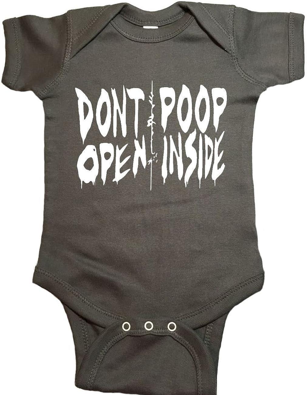 """The Walking Dead Baby One Piece /""""Dont Open Poop Inside/"""" Bodysuit"""