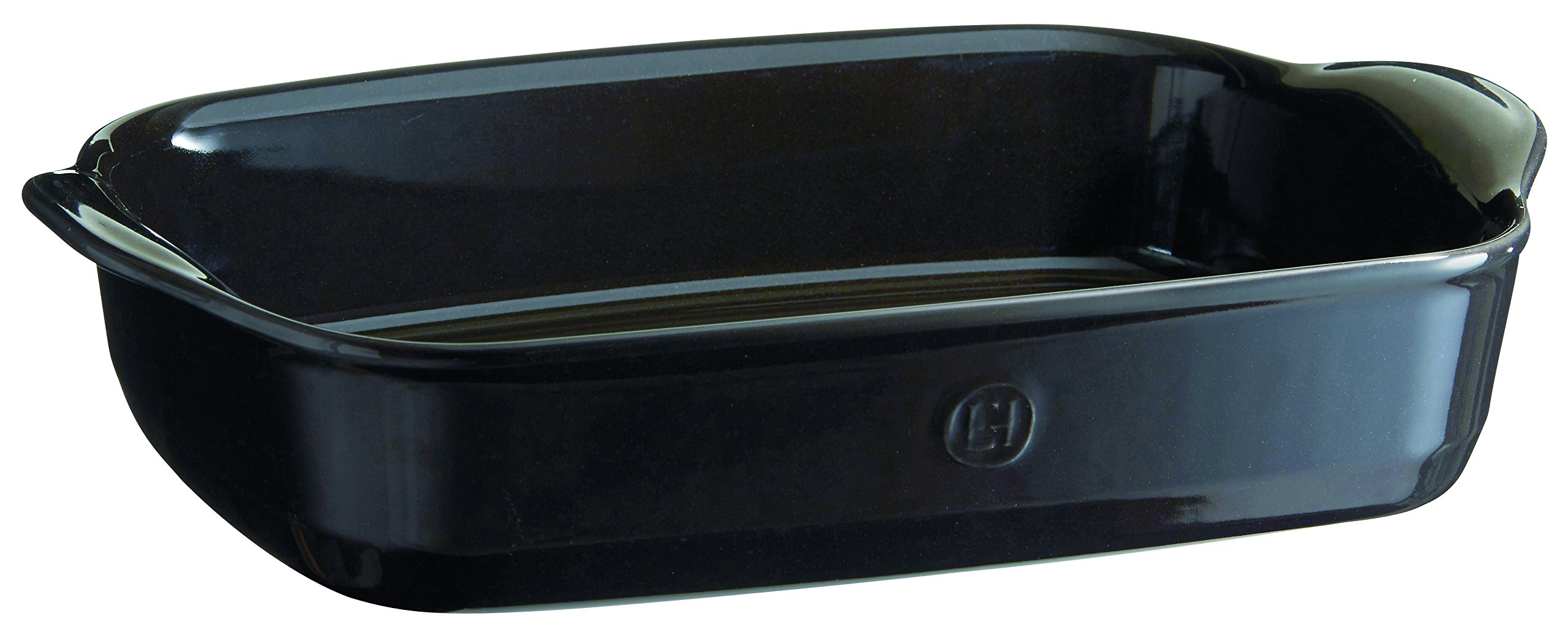 Emile Henry 799652 France Ovenware Ultime Rectangular Baking Dish, 14.2 x 9.1, Charcoal by Emile Henry