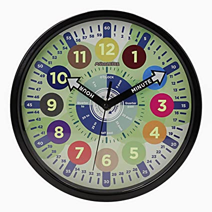 Amazon.com: Educational Kids Wall Learning Clock - Easy To ...