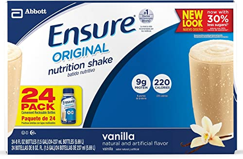 Ensure Vanilla Shake Nutrition Drink, 8 Oz. Bottle Case Contains 24 BOTTLES