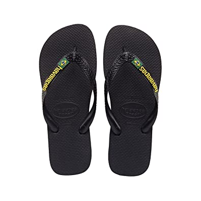 f331f3b22 Havaianas Brasil Logo Sandal - Black - 31 32-uk12.5 13  Amazon.co.uk  Shoes    Bags