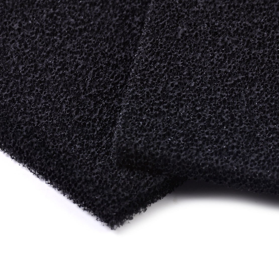 Aquiver Universal Black Activated Carbon Foam Sponge Air Impregnated Sheet Filter Pad,2 pcs