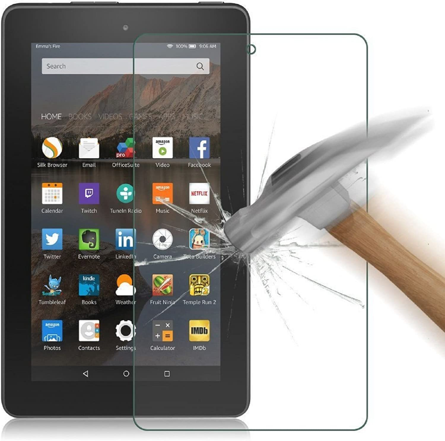 HDX7 Premium Tempered Glass Anti-Scratch Screen Protector for Amazon Kindle 7