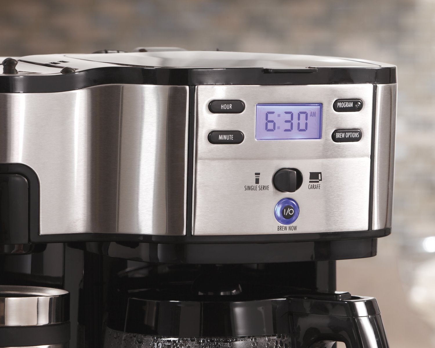 Hamilton Beach (49980A) Single Serve Coffee Maker and Coffee Pot Maker, Programmable, Black/Stainless Steel (Renewed) by Hamilton Beach (Image #5)