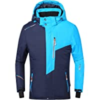 PHIBEE Mens Waterproof Windproof Outdoor Fleece Ski Jacket