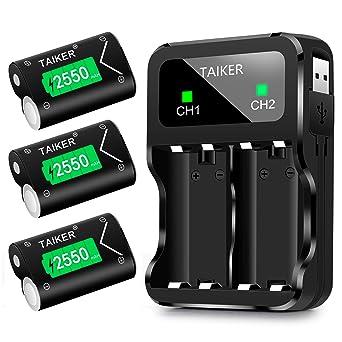 Amazon.com: TAIKER - Batería para Xbox One (3 unidades, 2550 ...