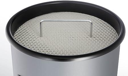 Durable 333001 Acciaio Verniciato Posacenere a Colonna con Sabbia e Cestino H x Diametro 620 x 260 mm Nero