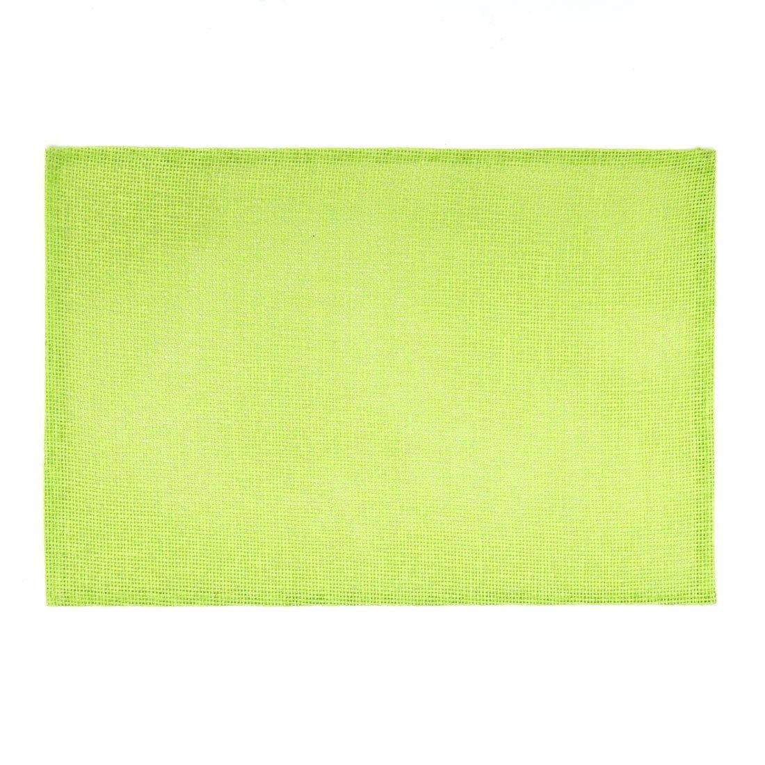2 Pack LinenTablecloth Tea Rectangular Burlap Placemats Green