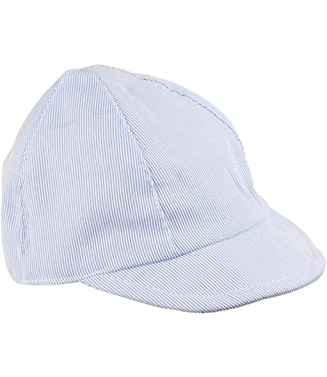 Amazon.com  BabyPrem Baby Hat Sun Cap Boys Blue White Striped Summer ... d66b5375b08