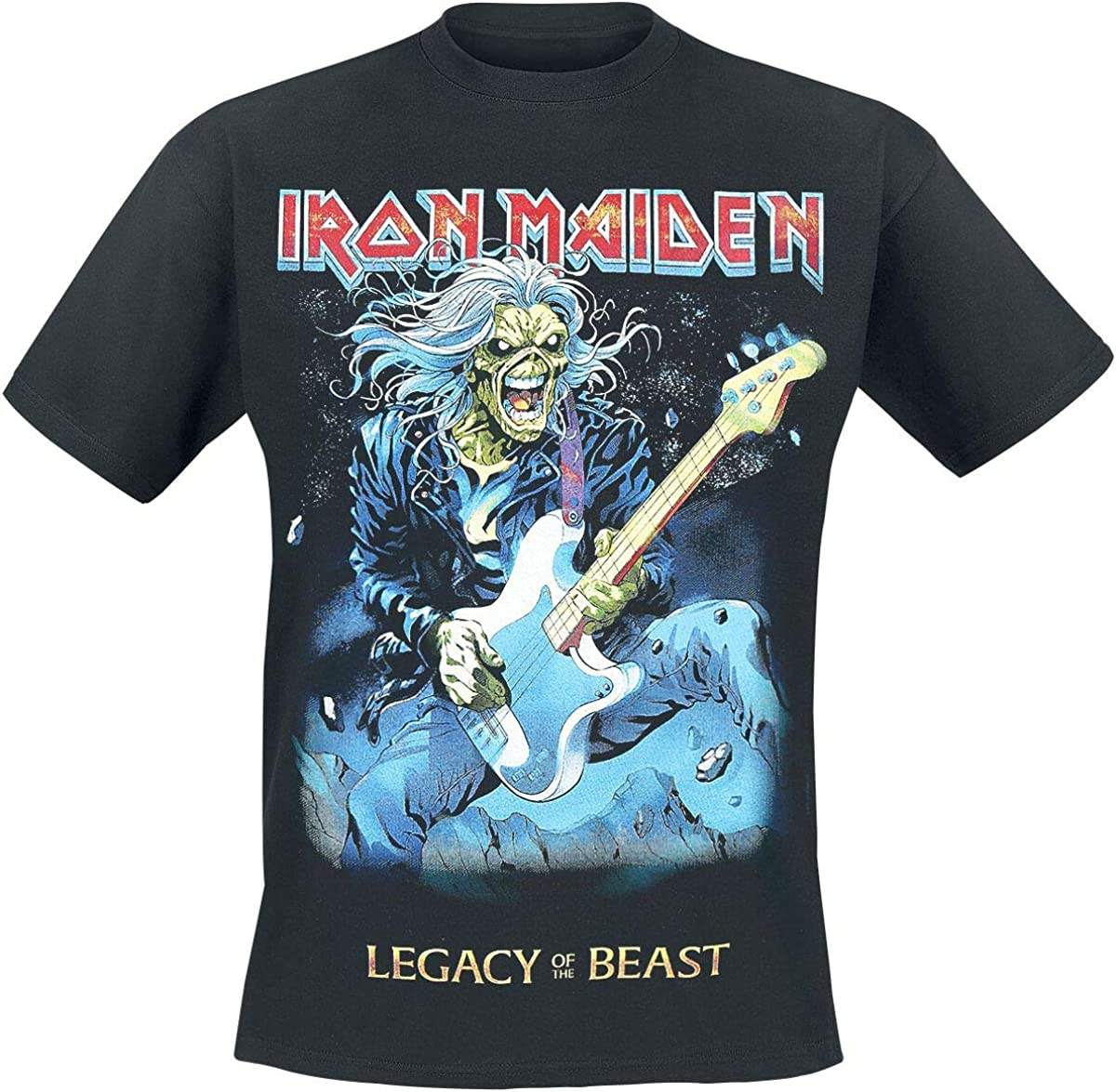 G/én/érique Iron Maiden T-Shirt Eddie on Bass Homme Noir