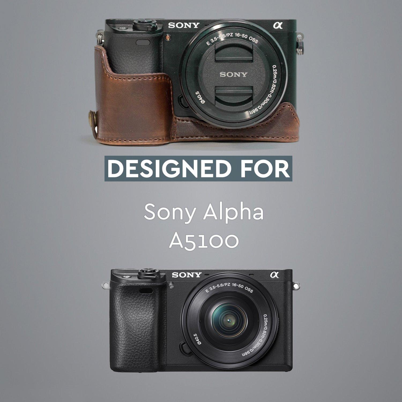 Funda Funda, Sony, Alpha A5100, Alpha A5000, Negro MegaGear MG963 Estuche para c/ámara fotogr/áfica