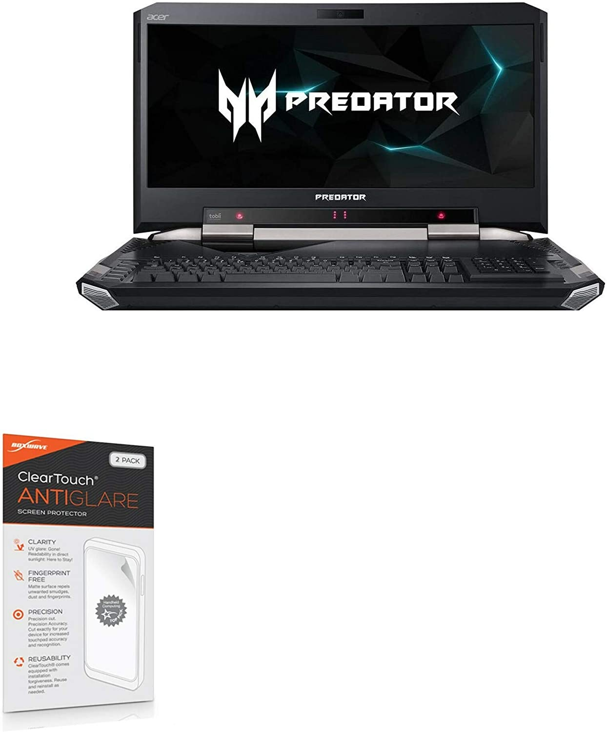 Screen Protector for Acer Predator 21 X (GX21-71-76ZF) (Screen Protector by BoxWave) - ClearTouch Anti-Glare (2-Pack), Anti-Fingerprint Matte Film Skin for Acer Predator 21 X (GX21-71-76ZF)