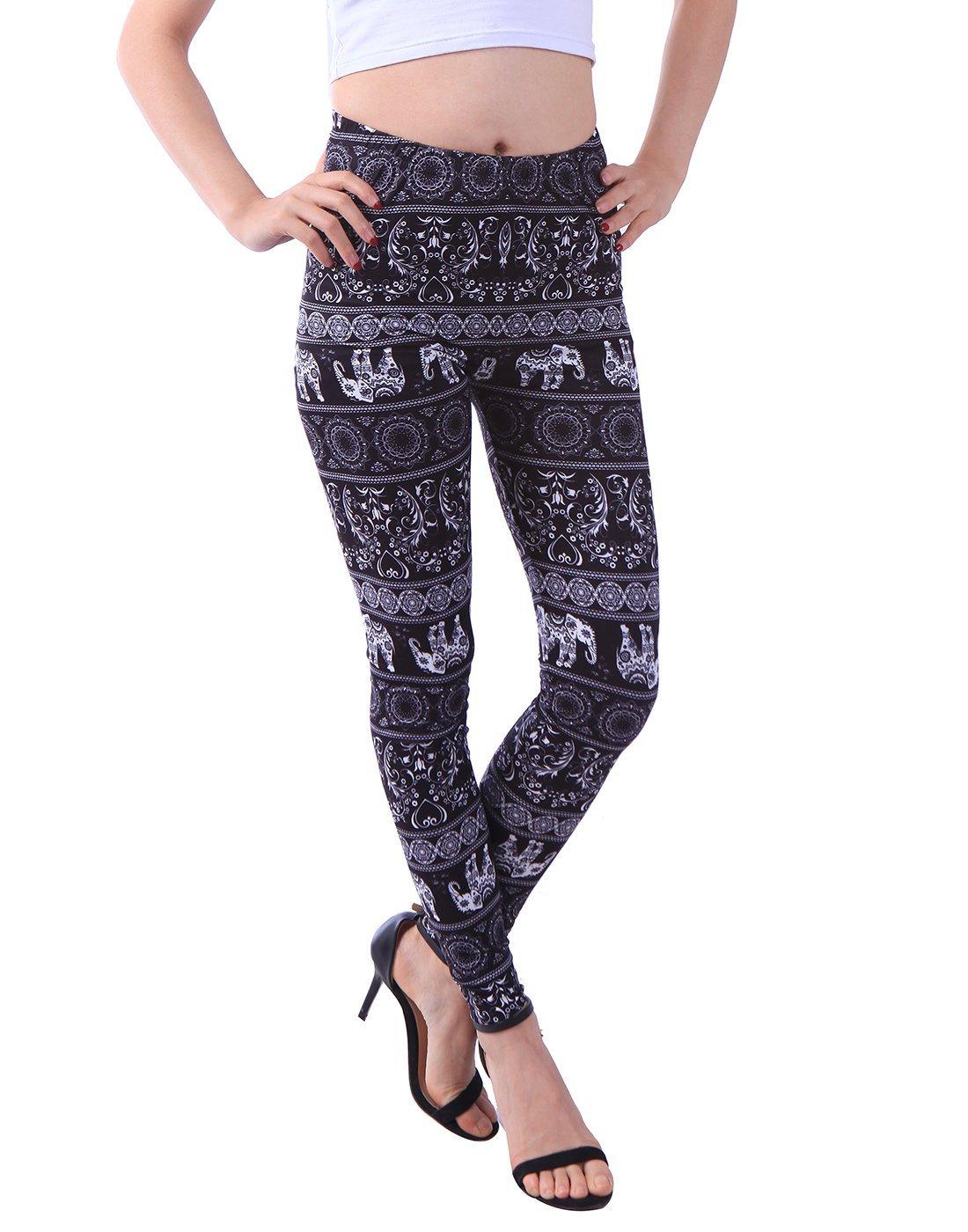 HDE Juniors Ultra Soft Leggings Teen Fashion Stretch Pants Pattern Comfy Pants