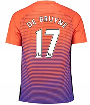 first rate 9cd5e f0aee Manchester City FC 17 Kevin De Bruyne The Third Away Soccer ...