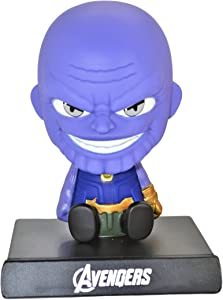 Cell Phone Holder PVC Bobble Head Figure Car Dashboard Office Home Accessories Ultra Detail Doll . (Thanos)