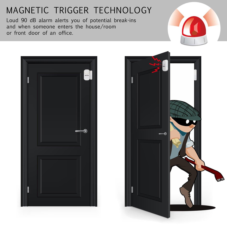 GetTen 10Pcs Wireless Home Door Window Burglar DIY Safety Security ALARM System Magnetic Sensor by GetTen (Image #5)