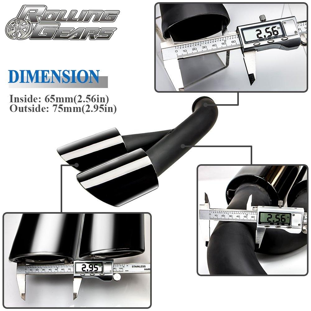Actualización de las puntas del silenciador de escape GTS-Look para Cayenne 958.2 V6, tipo redondo (espejo negro): Amazon.es: Coche y moto