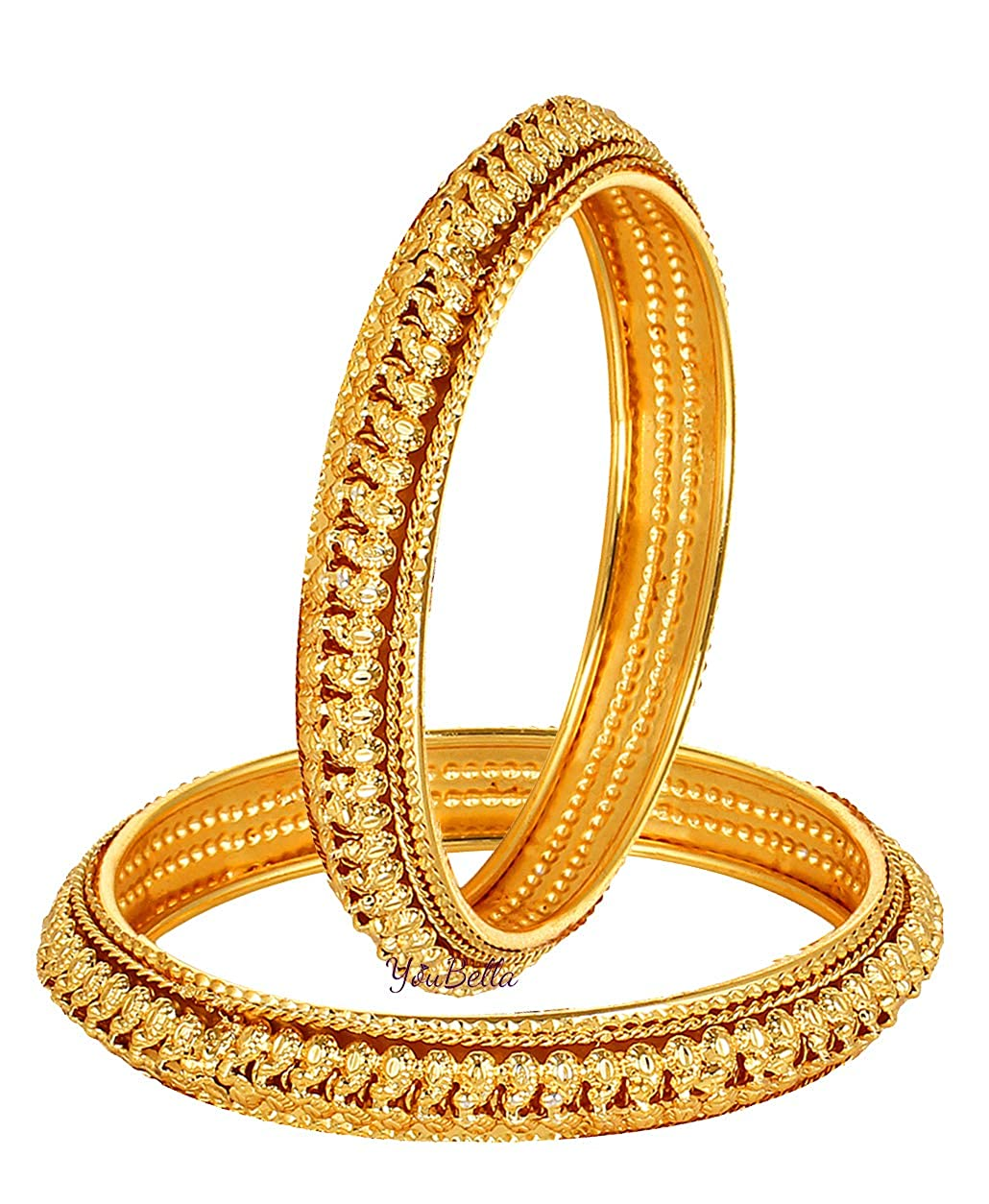 4f2a5d46fdfd6 YouBella Gold Plated Bangles Jewellery for Girls and Women