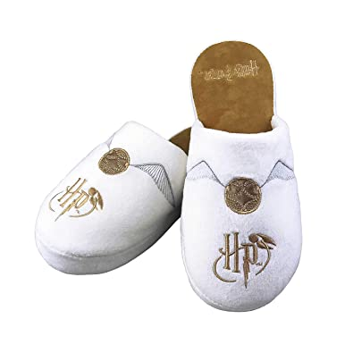 90fea0fb7b62 Official Harry Potter Golden Snitch Adult Mule Slippers - UK 5-7   Amazon.co.uk  Shoes   Bags