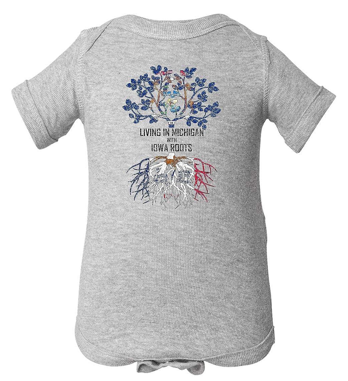 Tenacitee Babys Living in Michigan Iowa Roots Shirt
