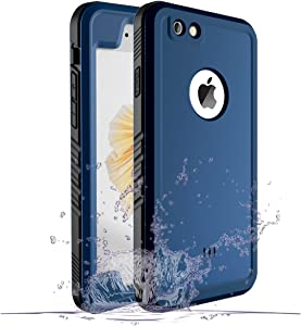 Cozycase Waterproof Case for iPhone 6/6s, Shockproof Full-Body Rugged Case with Built-in Screen Protector for Apple iPhone 6/6s -(Blue)