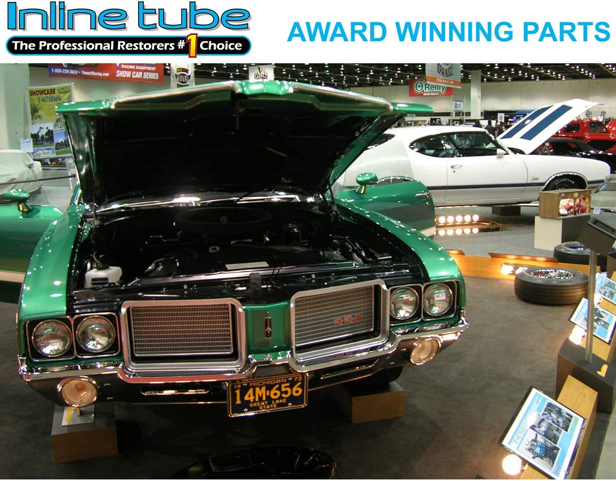 Inline Tube Compatible with 1964 1965 1966 1967 Chevelle Power Steering Gear Box Pressure Supply Return Hose Set SS M-2-1