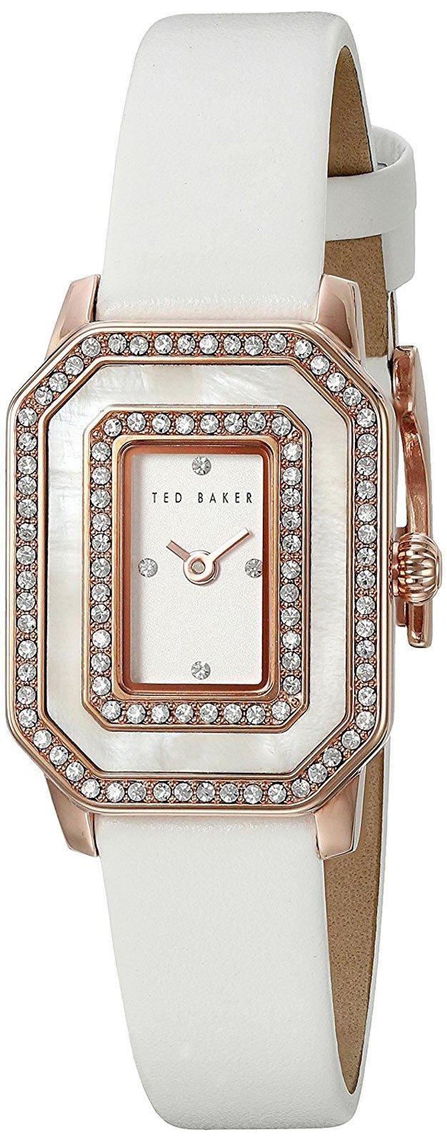 Ted Baker Women's 10023481 Glam Analog Display Japanese Quartz White Watch