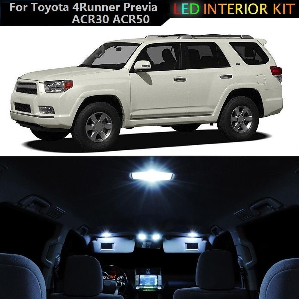 For Toyota Highlander Led Interior Lights Led Interior Car Lights Bulbs Kit  White 2008-2013 10Pcs
