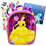 Disney Beauty and the Beast Toddler Preschool Backpack 10 inch Belle Mini Backpack with Stickers (