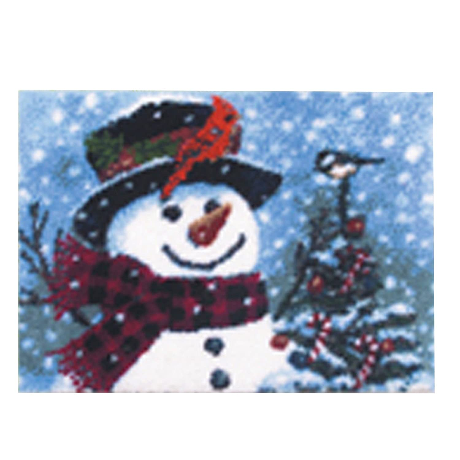 1 Pack BYT Collections 14 Model Christmas Latch Hook Kit Rug Christmas047 21 by 15 inch