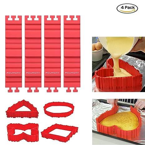 Moldes de silicona para pastel PUCKWAY molde de horno para diseño de tartas cualquier