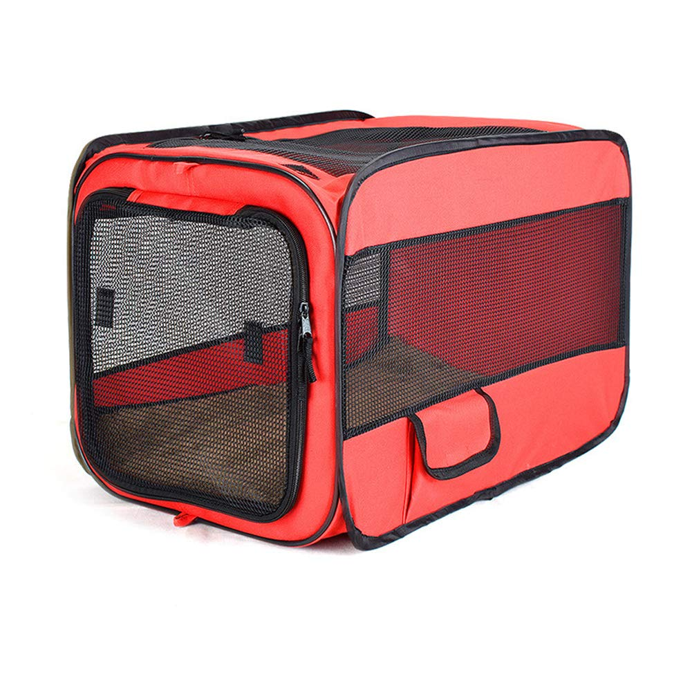 Red Large red Large HENRYY Large, medium and small Oxford cloth folding new pet fence Portable car pet cage-red-L
