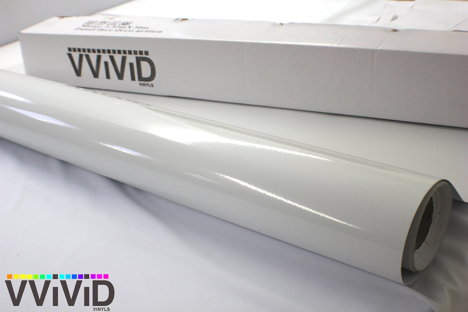 VViViD White High Gloss Realistic Paint-Like Microfinish Vinyl Wrap Roll XPO Air Release Technology (10ft x 5ft) by VViViD (Image #4)