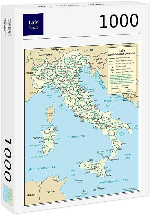 Lais Puzzle Mapa de Italia Administración 1000 Piezas: Amazon.es: Juguetes y juegos