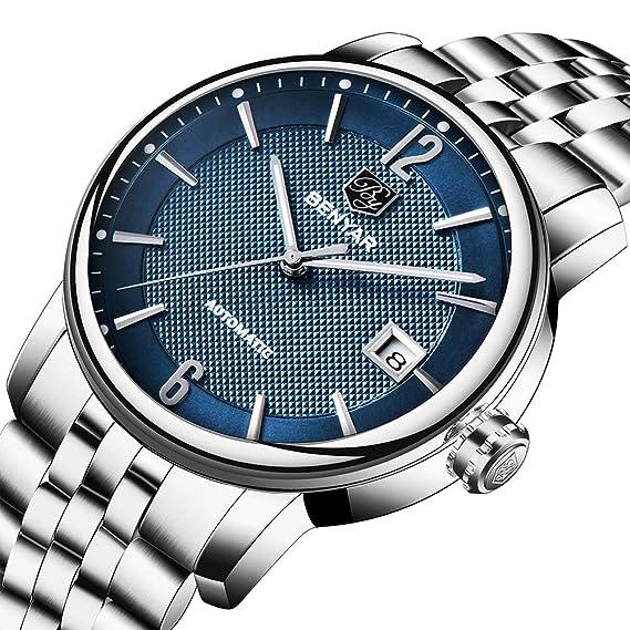 Benyar - Reloj de Pulsera para Hombre (analógico, Pantalla clásica y Correa de Acero