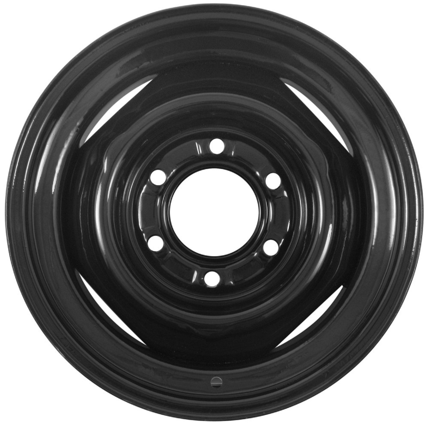 eCustomRim Conventional Steel Trailer Wheel Rim Black 15x6 6 Hole 5.5'' Circle 15'' x 6''