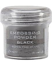 Ranger Embossing Powder, .56 Ounce Jar, Super Fine Black