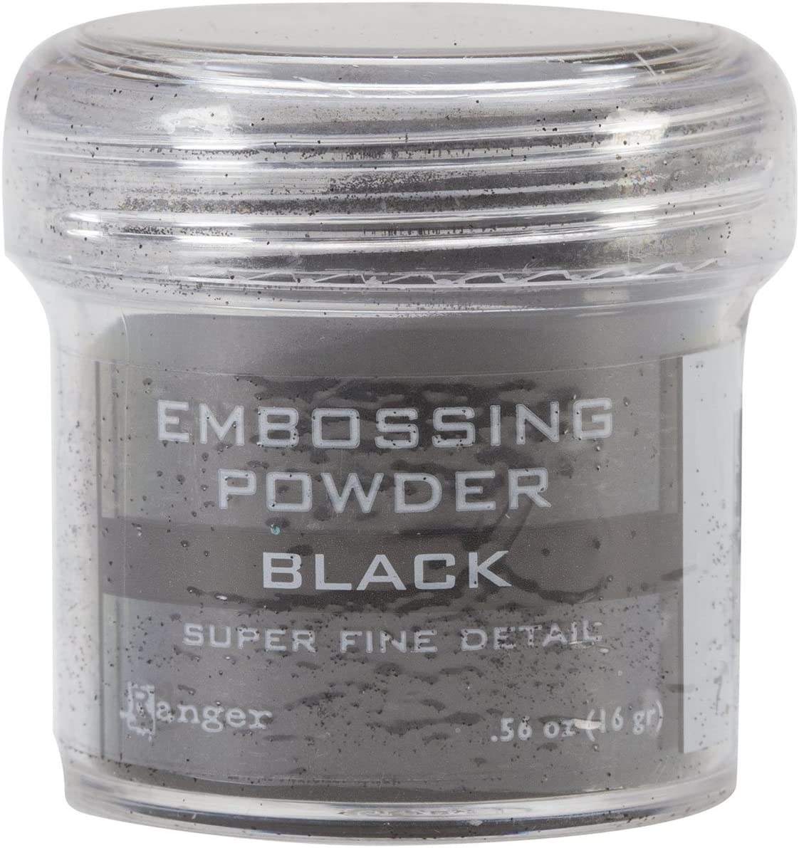 Ranger Embossing Powder, .56 Ounce Jar, Super Fine Black
