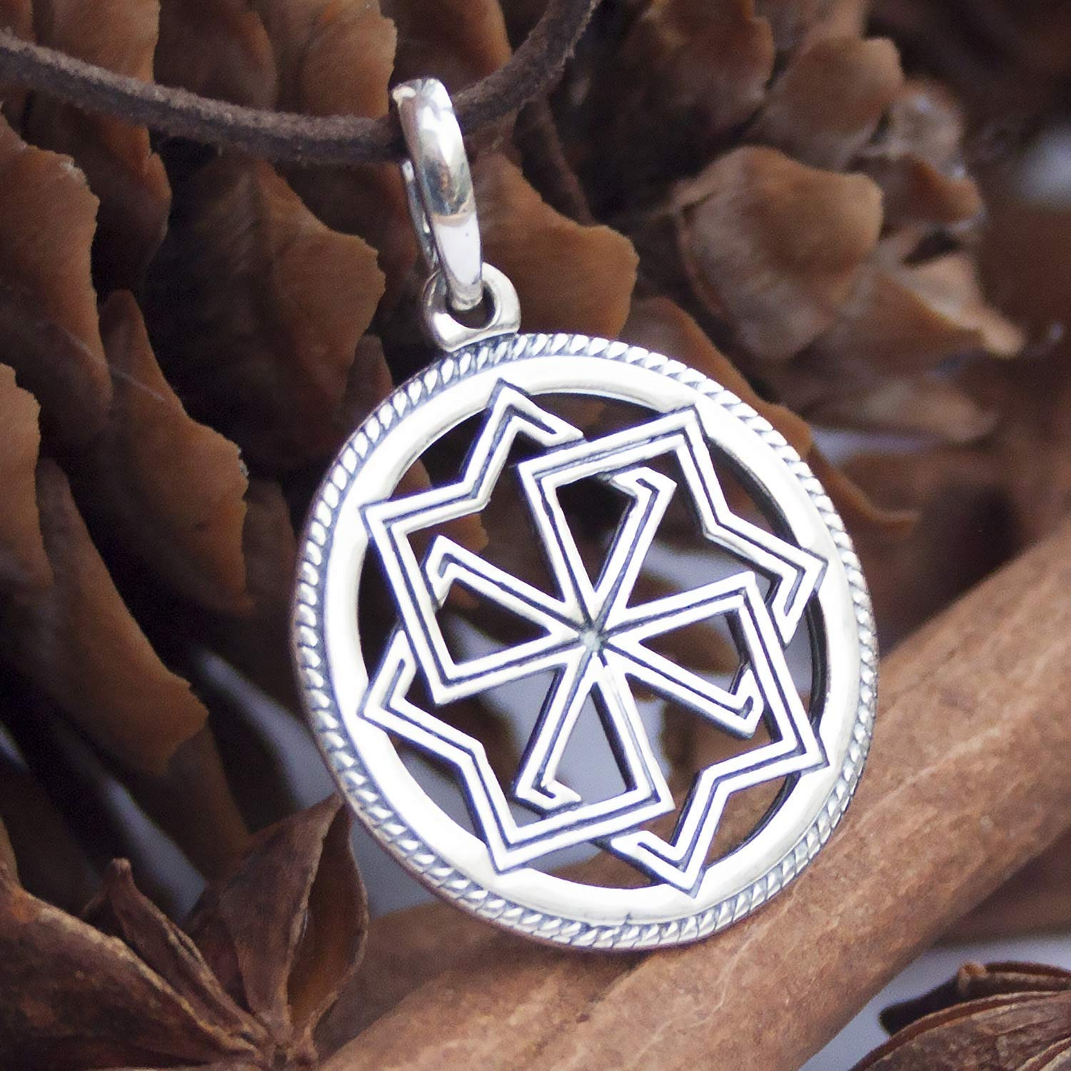 ALATYR STAR necklace Sun necklace Symbol of POWER Protection necklace Slavic jewelry Rune Magical necklace Norse jewelry Viking jewelry