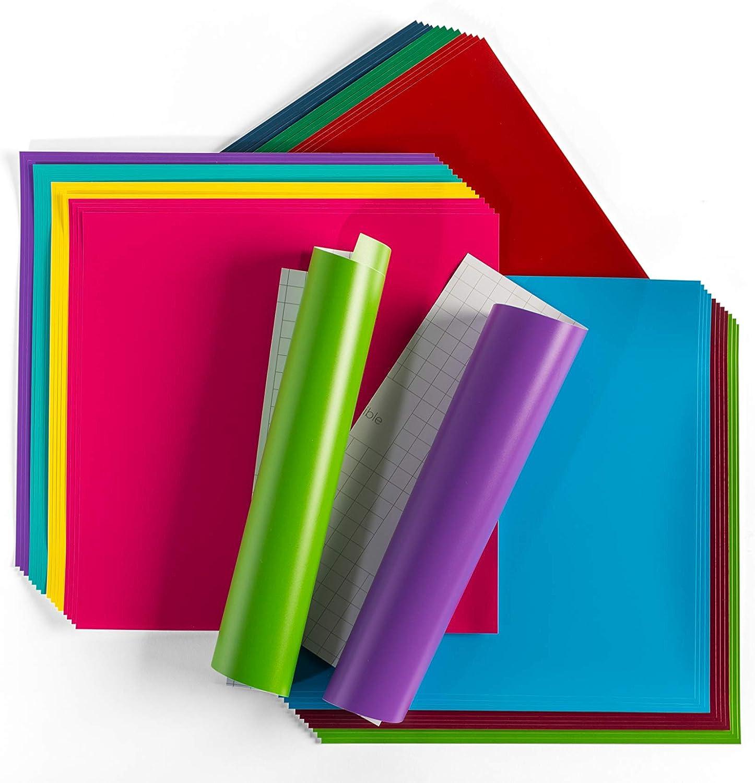 "Cricut Premium Vinyl - Removable, 12"" x 12"" Adhesive Decal Sheets - Variety: Arts, Crafts & Sewing"