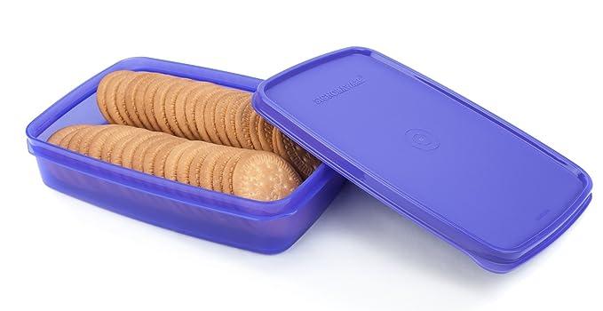 Signoraware Crispy Slim Box Plastic Container, 850ml, Violet Jars   Containers