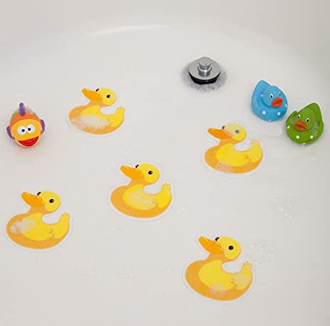Amazon.com: Bathtub Stickers Ducks - Safety Decals Treads Non Slip ...